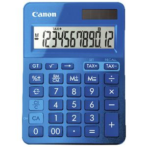 canon 12 digit desktop calculator blue ls123k officeworks