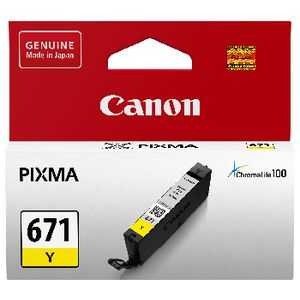 Canon CLI-671 Ink Cartridge Yellow