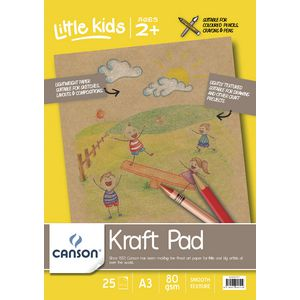 Canson A3 Kraft Pad 80gsm 25 Sheets