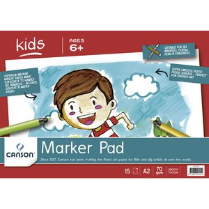 Canson A2 Kids Marker Pad 70gsm 15 Sheets