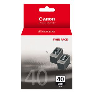 Canon PG-40 Ink Cartridge Black Twin Pack