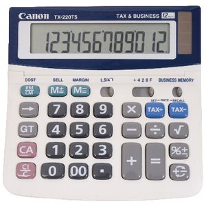 Canon 12 Digit Desktop Calculator TX-220TS