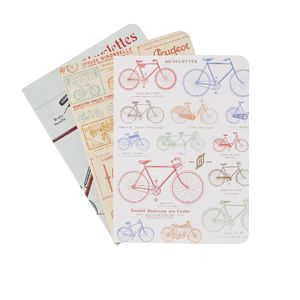 Cavallini Mini Notebook Vintage Bikes 3 Pack