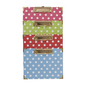 A5 Clipboard Assorted Colours with Spots and Stripes