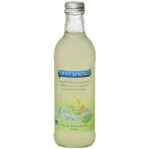 Deep Spring Mineral Water Lemon Lime and Orange 300mL 24 Pack