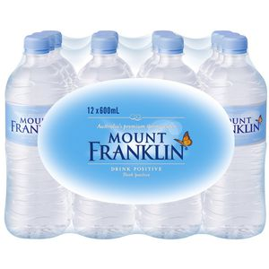 Mount Franklin Water 600mL 12 Pack