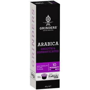 Grinders Arabica Caffitaly Capsules 8g 10 Pack