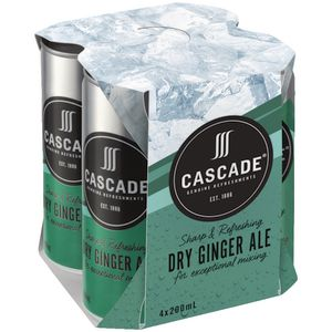 Cascade Dry Ginger Ale 200mL 4 Pack