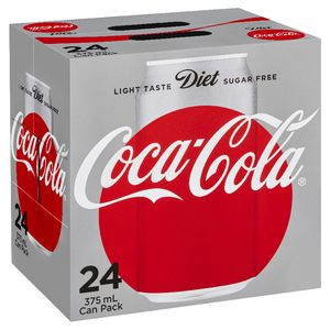 Diet Coca-Cola Cans 375mL 24 Pack