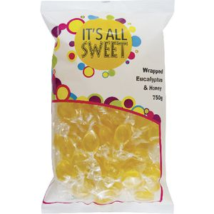 It's All Sweet Wrapped Eucalyptus Honey Drops 750g