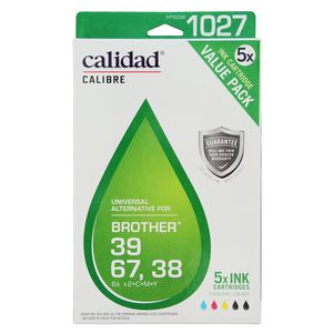 Calidad Alternative Brother LC 38/39/67 Ink Cartridges 5 Pack