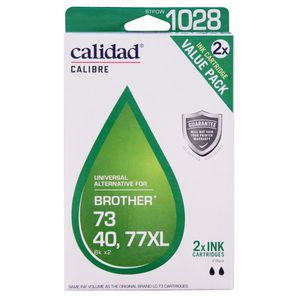 Calidad Brother LC73/77XL Ink Cartridges Black 2 Pack