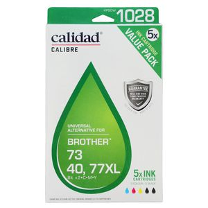 Calidad Alternative Brother LC 73/40/77XL Ink 5 Pack