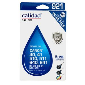 Calidad 921-CPOW Canon Alternative Ink Refillers 5 Pack