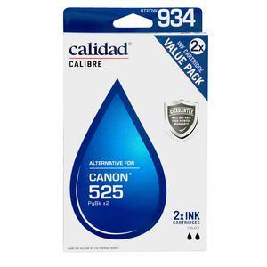 Calidad Alternative Canon 525 Ink Cartridges Twin Pack Black