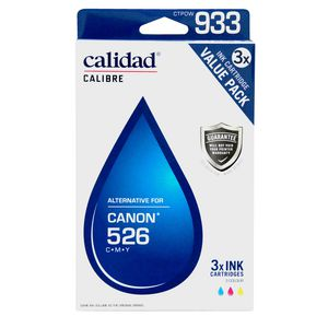 Calidad Alternative Canon 526 Ink Cartridges 3 Pack