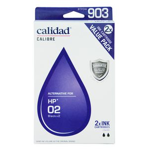Calidad Alternative HP 02 Ink Cartridges Twin Pack Black