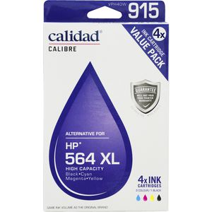 Calidad Alternative HP 564XL Ink Cartridges 4 Pack