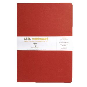 Clairefontaine Essentials A4 Lined Notebook Red 2 Pack