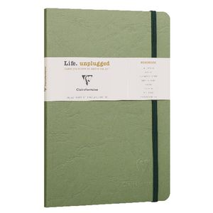 Clairefontaine A5 Lined Roadbook Green