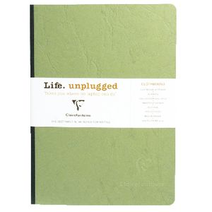 Clairefontaine Essentials A5 Plain Notebook Green