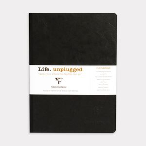 Clairefontaine Essentials A5 Lined Notebook Black