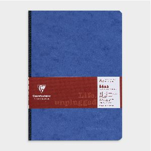 Clairefontaine A5 Clothbound Ruled Notebook Blue