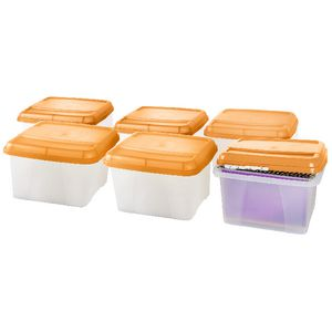 Crystalfile Porta Box Orange 6 Pack