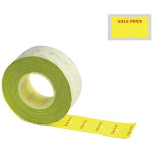 Meto Primark Labelling Gun Permanent Labels Yellow 5 Pack