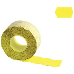 Meto 2 Line Series Alpha Labels Fluoro Yellow 5 Pack