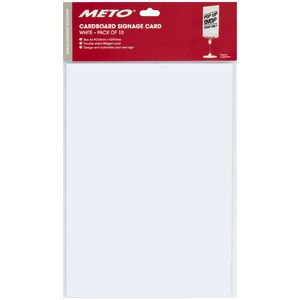 Meto A4 Sign Card White 5 Pack