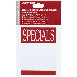 Meto A7 Sign Cards SPECIAL 10 Pack