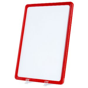 Meto A4 Signage Frames Red 2 Pack