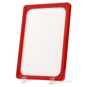 Meto A5 Signage Frames Red 2 Pack