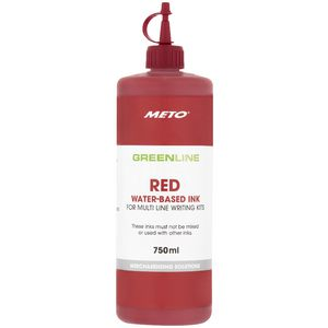 Meto Sign Writing Ink Red 750mL
