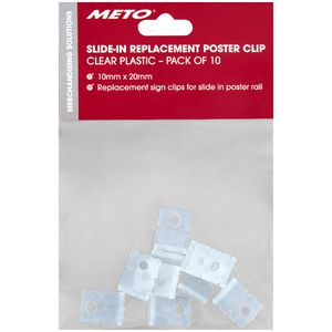 Meto Replacement Slide In Hangers 10 Pack