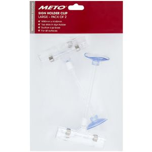 Meto Slide Sign Holder Suction Large 2 Pack