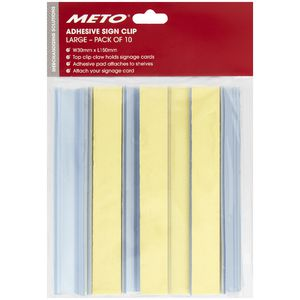 Meto Adhesive Sign Clips Large 10 Pack