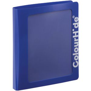 ColourHide Core Clearview Binder A4 2 D-Ring Blue