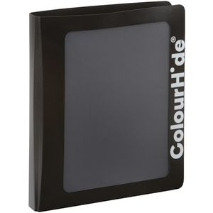 ColourHide Core Clearview Binder A4 2 D-Ring Black