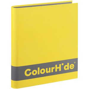 ColourHide A4 Silky Touch Binder 25mm Yellow