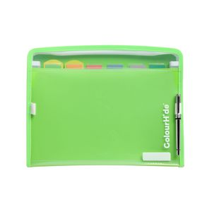 ColourHide Zip It Expanding File 7 Pocket Green
