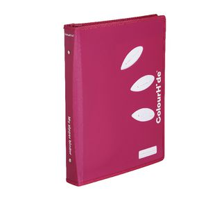 ColourHide My Zipper Binder A4 2 D-Ring 25mm Pink