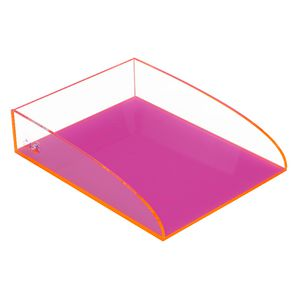 ColourHide Glo Document Tray Pink