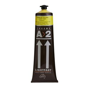 Chroma A2 Lightfast Students Acrylic 120mL Yellow Light