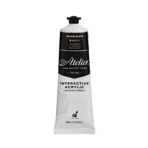 Atelier Interactive Artist Acrylic 80mL Brown Black S1