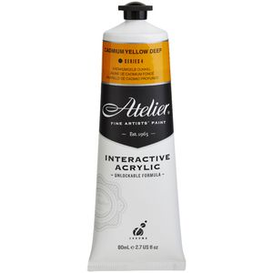 Atelier Interactive Artist Acrylic 80mL Cad Yellow Deep S4