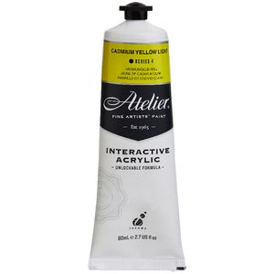Atelier Interactive Artist Acrylic 80mL Cad Yellow Light S4