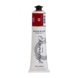 Chromacryl Student Acrylic Paint 75mL Cool Red