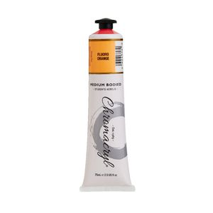 Chromacryl Student Acrylic Paint 75mL Fluoro Orange